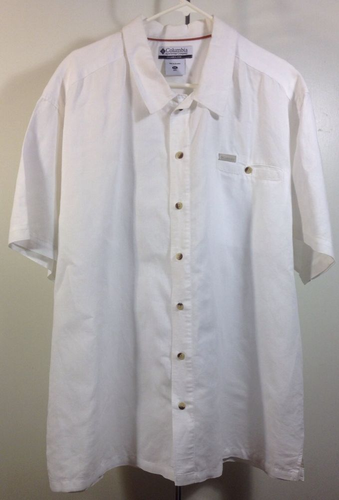 Mens Columbia Short Sleeve Button Down Casual Shirt