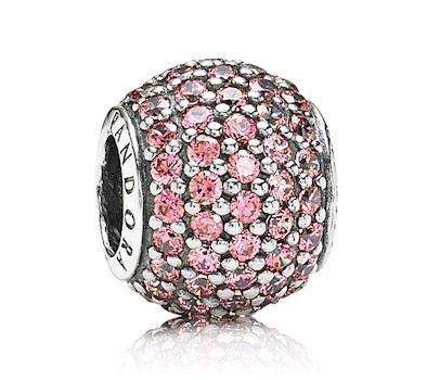Pandora Pink Pavé Charm 791051CZS at John Greed Jewellery