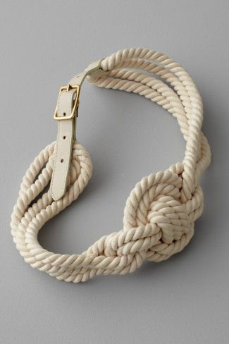 Entwined Belt.Beach Accessories, Inspiration, Ropes Belts, Style, Clothing, Dresses, Knots, Knot Bracelets, Nautical