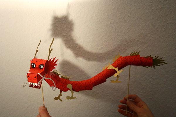 Marioneta de papel Dragón Chino