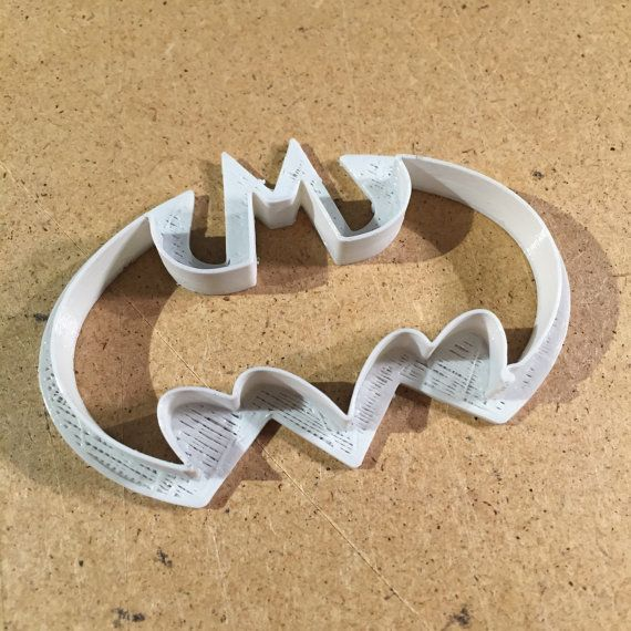 Batman Cookie Cutter Logo Cutter 7 cm wide. Colours: by tomeksz