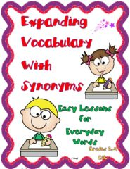Vocabulary Development! Enter for your chance to win 1 of 3. Expanding Vocabulary with Synonyms  (212 pages) from Essential Reading / Language Skills on TeachersNotebook.com (Ends on on 12-01-2016)  Lessons  and practice exercises expand student knowledge of everyday words with synonyms..