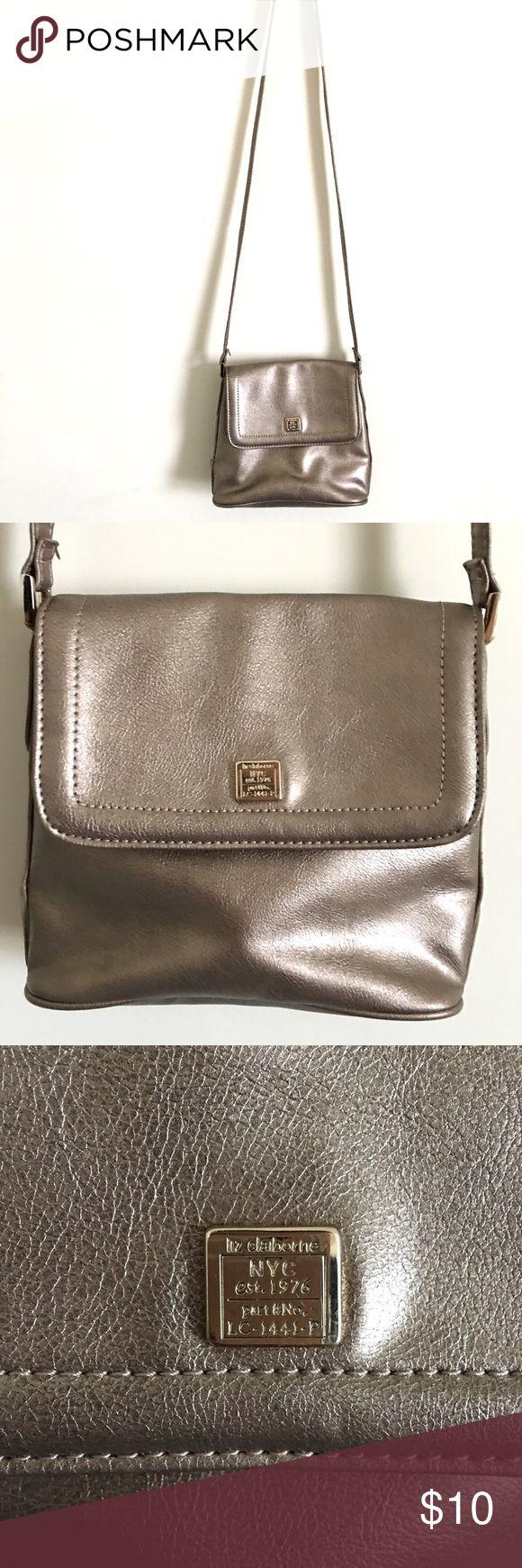 Liz Claiborne Metallic Purse Great condition! Bags Crossbody Bags