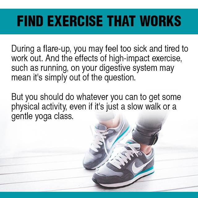 Everybody needs exercise to stay healthy. When you have ulcerative colitis,  exercise can help