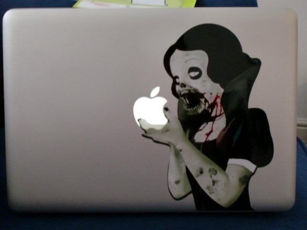 Love my laptop sticker!  alicetitiZombies White, Loss Products, Creepy Laptops, Bobs, Alicet Bit, Products Sponsor, Favorite, Laptops Stickers