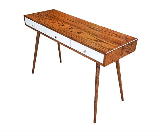Mid Century Desk / Entryway Table by OrWaDesigns on Etsy