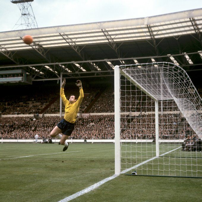 Gordan Banks against Hungary at Wembley, 1965