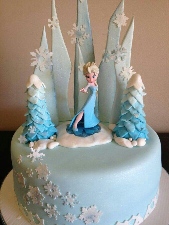 Frozen cake - or just the base for Winter ONEderland with seperate but matching smash cake!