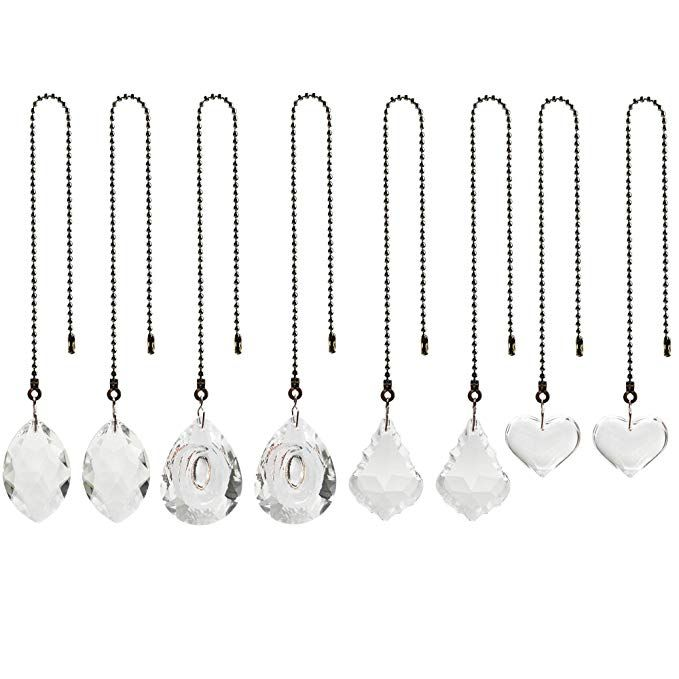 8 Pack 4 Styles Clear Crystal Prisms