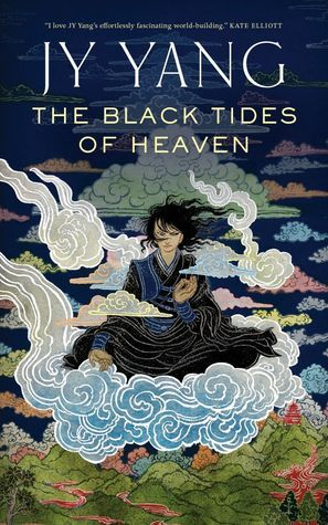 """""""The black tides of Heaven"""", by JY Yang - Mokoya and Akeha are twins, the youngest children of the ruthless Protector of the Kingdom. Their mother is engaged in a complex power struggle with the Grand Monastery and as a result both children are raised there as charges—until Mokoya begins receiving prophetic visions and the children are recalled to the palaces."""