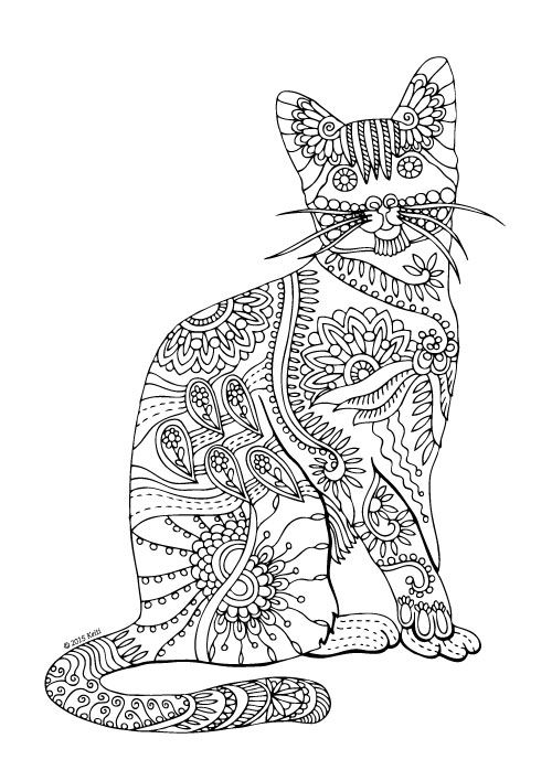 1000 images about cat coloring pages on pinterest