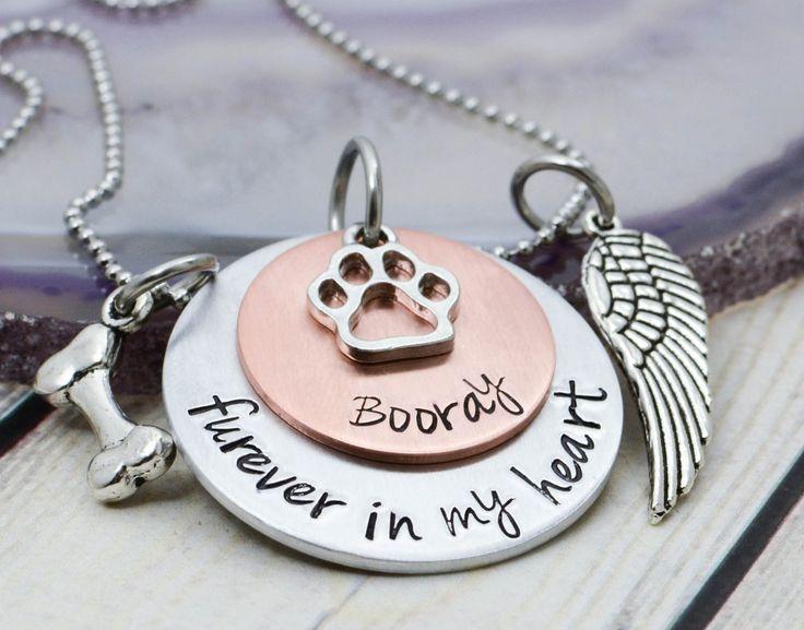 Pet Memorial Jewelry - Pet Loss Gift - Loss of Pet Jewelry - Dog Remembrance Jewelry - Dog Memorial Necklace - Pet Memorial Necklace