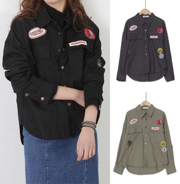 New Women Spring Casua Button Down Shirt Jacket Japanese/Korean Fashion #Unbranded #ButtonDownShirt #Casual