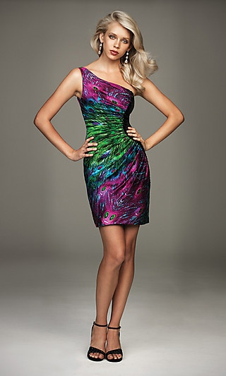 Peacock dress - thats a cool idea for dress rehearsal or something! either way its just a cute dress had to share haha