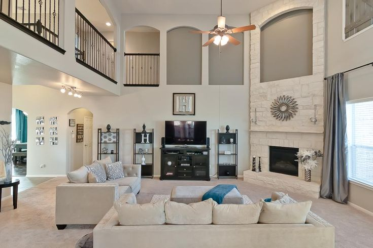 amusing two story living room | 17 Best images about 2 Story Great Room Ideas on Pinterest ...