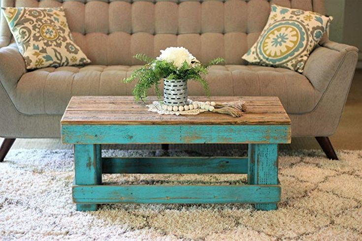 A Very Unique Turquoise Coffee Table Found This On Amazon