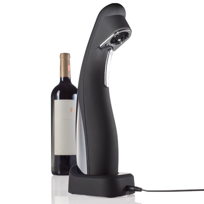 Automatic Wine Opener with built-in Foil Cutter. Opens 50 bottles on a single charge.