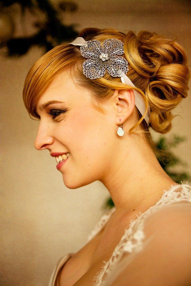 headband clara accessoire coiffure mariage rtro vintage bridal accessories sautoir et poudrier - Accessoir Mariage
