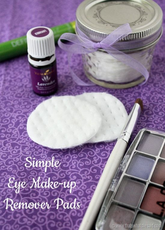 Two Ingredient DIY Make-Up remover pads will have your eyes thanking you! They work awesome! Come see how easy they are to make!