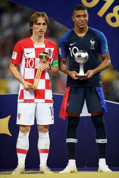 56ae8900a Luka Modric and Kylian Mbappe. Luka Modric and Kylian Mbappe Soccer ...