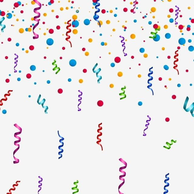 Colorful Birthday Ribbons With Randomly Dots Transparent Background Confetti Background Birthday Png And Vector With Transparent Background For Free Download In 2021 Colorful Birthday Balloon Ribbon Happy Birthday Png