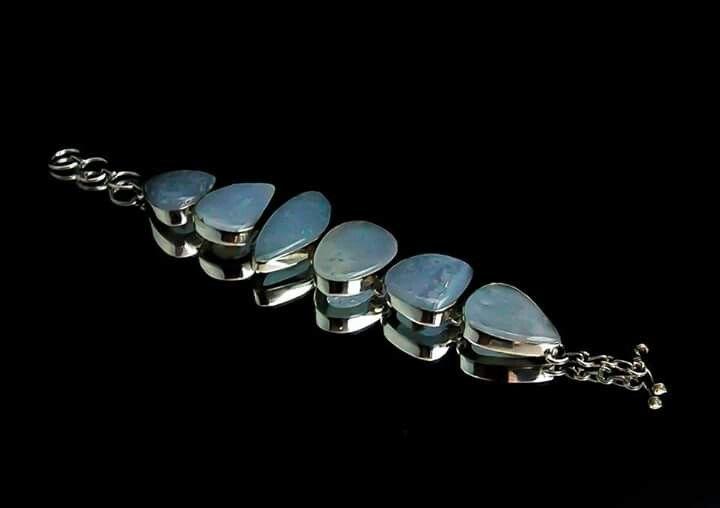 Orlov Jewellery-German silver,blue lace agat