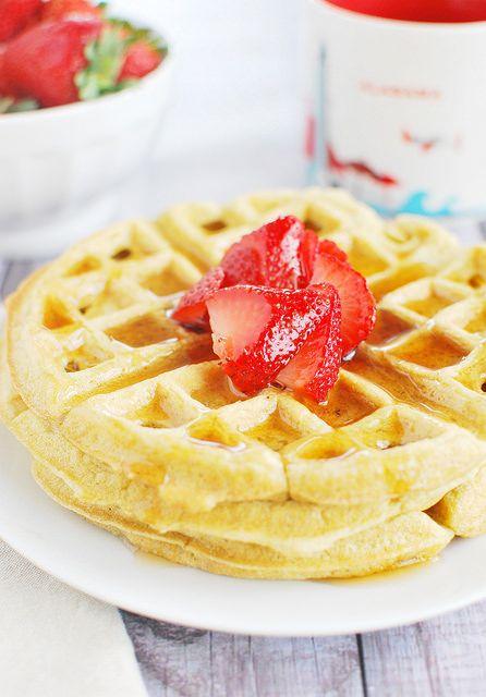 Coconut Flour Waffles #paleo