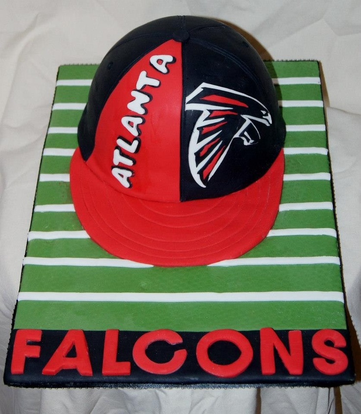 17 Best Images About Atlanta Falcons Cakes On Pinterest