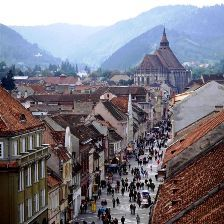 Go to Brasov, Romania and then search for vampires at Bran [Dracula's] Castle.