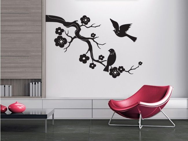 Vinilo pared Cereza floreciente