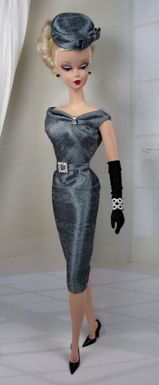 """""""Along the Seine"""" outfit by 'Matisse Fashions' on a Silkstone Barbie 