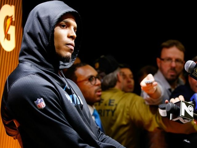 WATCH: Carolina Panthers QB Cam Newton walks out of postgame interview after Super Bowl loss  -  Shane Dale  -   8:36 PM, Feb 7, 2016
