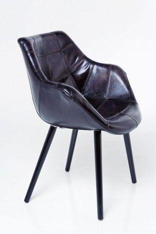 KARE Prague - Chair with Armrest Riffle Buffalo