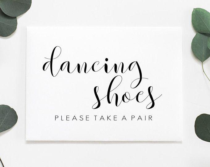Dancing Shoes Sign Printable Wedding Dancing Shoes Sign Wedding Dancing Slippers Wedding Flip Flop Sign Wedding Favours Sign Wedding Bar Sign Wedding Prints