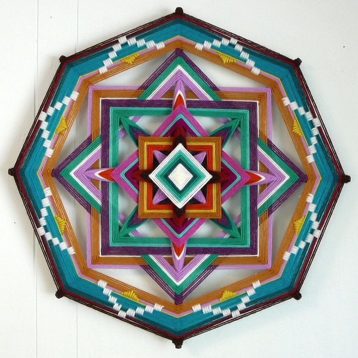 Jay Mohler Updates the Traditional Craft of Homespun God's Eyes to Create Elaborate Masterpieces up to 48 Inches Wide