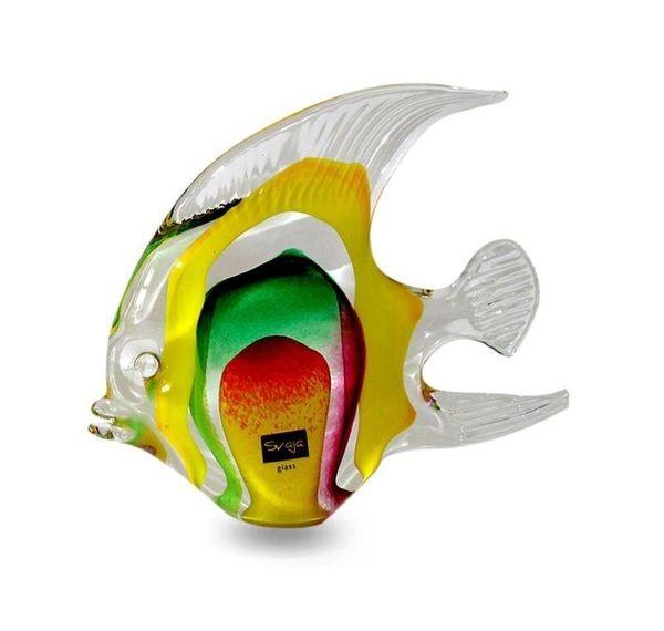 Glass Angel Fish Medium Yellow/Green