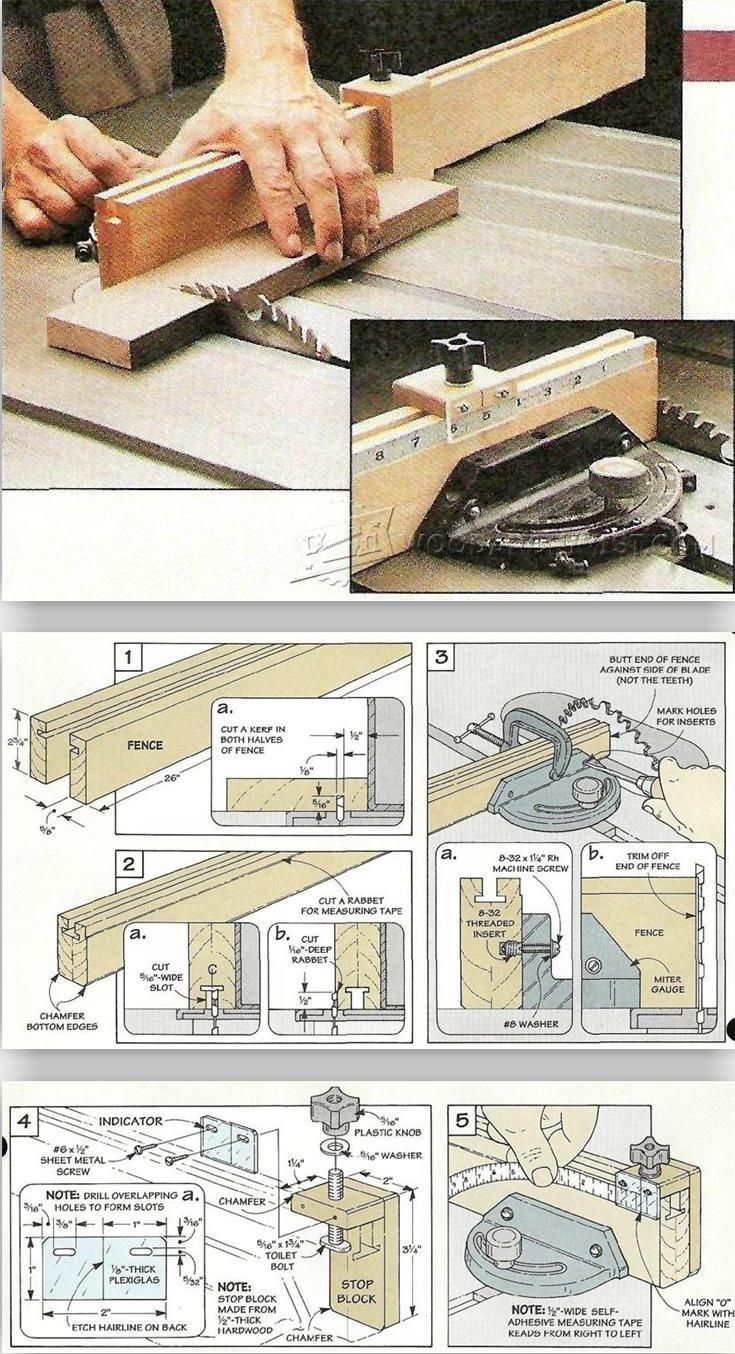 table saw fence plans pdf