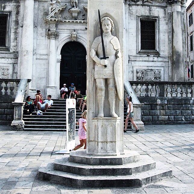 Orlando's column, Dubrovnik, Croatia