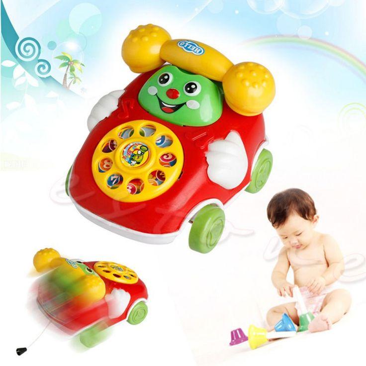 2017 Juguetes de Desarrollo Educativo de la Música Del Teléfono de la Historieta Del Bebé Niños de Juguete de Regalo Nuevo (Al Azar envíe) Nuevo