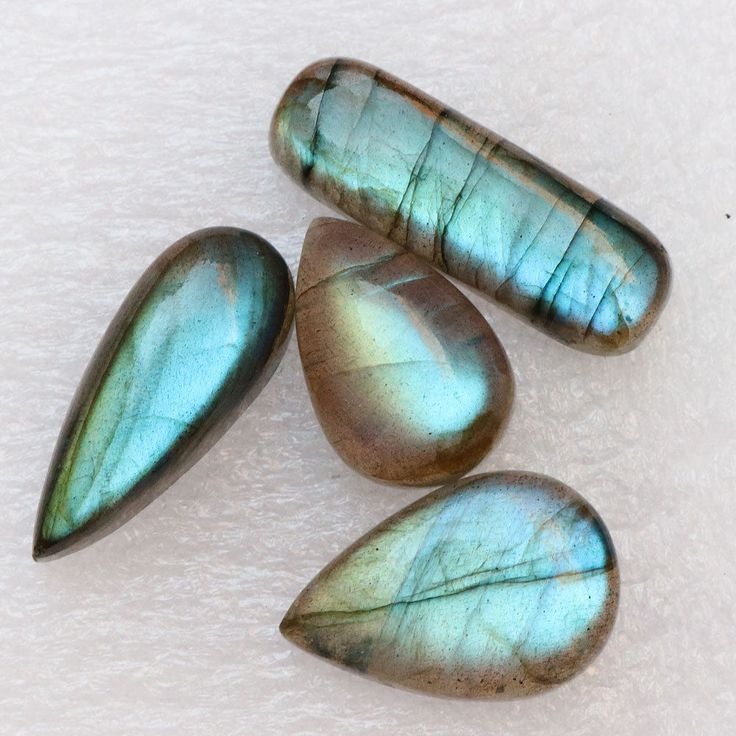 2 Pcs 71Cts. 23X16mm 100% Natural AAA+++ Labradorite Blue Fire Oval Gemstone #Unbranded