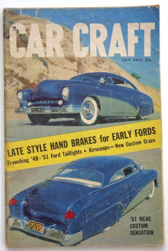 Vtg Car Craft Magazine July 1955 Hot Rod Drag Race Mercury Sensation Ford Custom #hotrod & 648 best Car Magazine covers posters u0026 memorabilia images on ... markmcfarlin.com