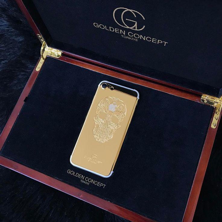 24 ayar altın kaplama kurukafa modelimiz swarovski apple logosu ile şekillendirildi.