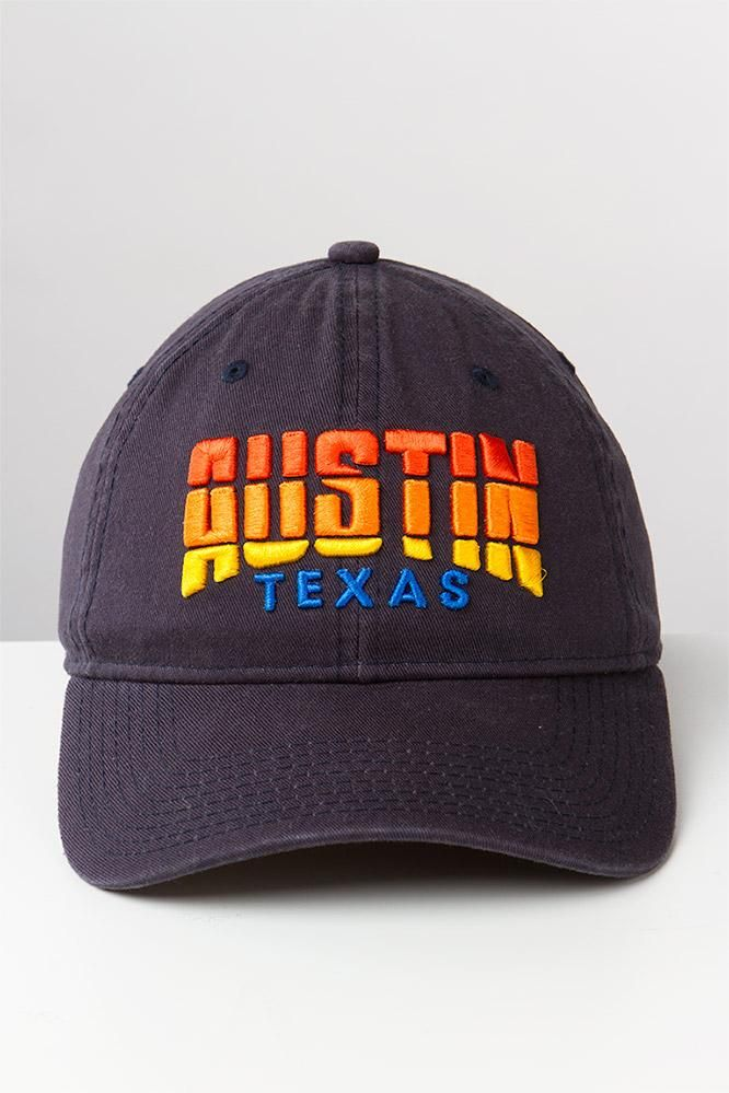 Represent your capital city pride with the Austin Texas Relaxed Twill Adjustable Cap from The Game! Hurry and order this hometown favorite hat online today!