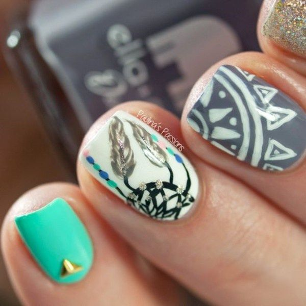 45 Stylish Aztec Nail Art Designs You Will Love To Copy | EcstasyCoffee