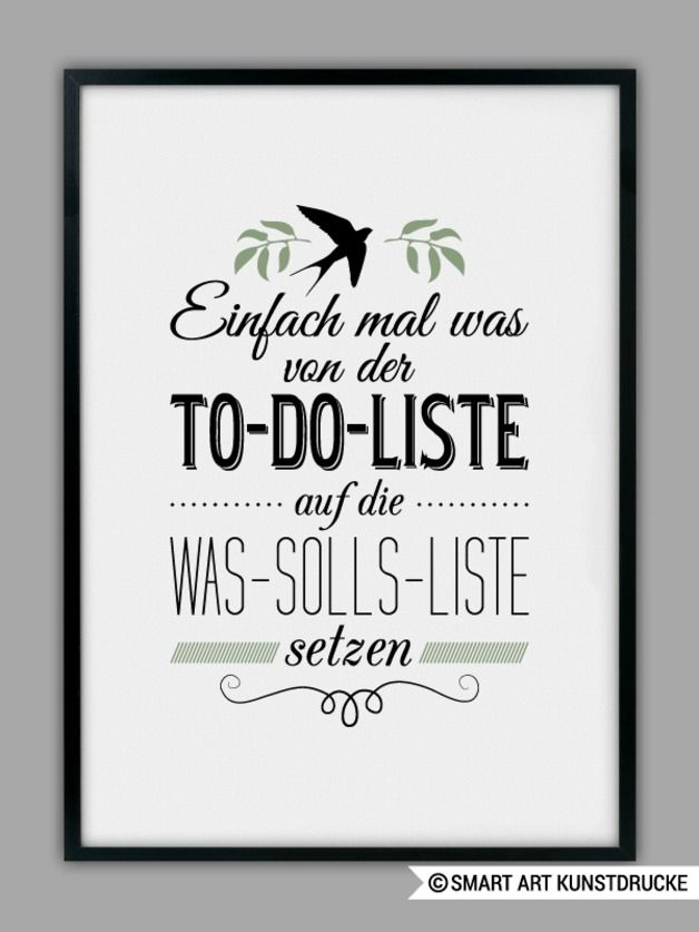 Poster mit Spruch / print with funny quote by SMART ART Kunstdrucke via DaWanda.com