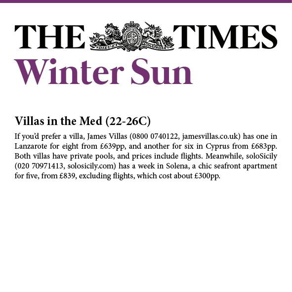 Our #beachfront apartment in SE #Sicily Solena is one of the hottest destinations for the upcoming #halfterm #holidays! -  via The Times.