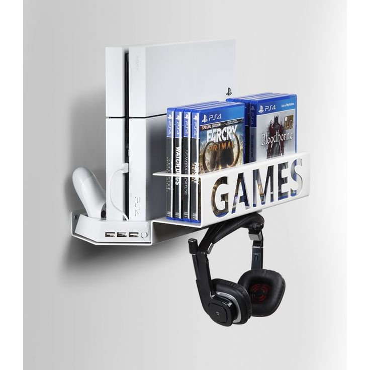 Gamerack PS4 Wall Mount & Desk Organizer - BORANGAMESHOP