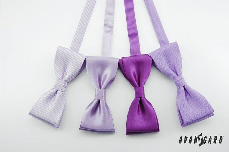 Fialové motýlky AVANTGARD PREMIUM /// Violet bow ties AVANTGARD PREMIUM