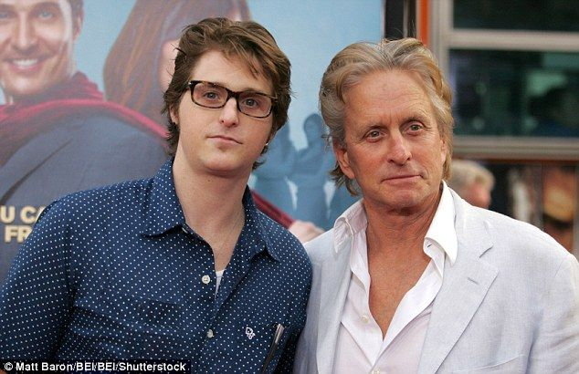 Free man: Cameron Douglas, 37, has been released from prison after seven years behind bars (above with his father Michael at a 2009 Los…