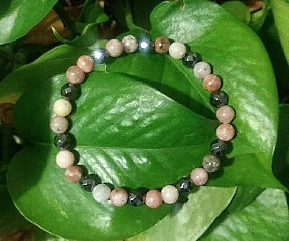 Picture Jasper bracelet relaxation healing crystals grounding stone earthy jewelry meditation mala balance emotional stability calming peace